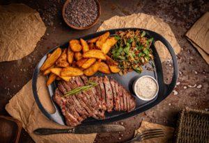 Gilled beef steak