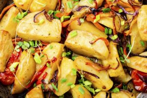 Roasted potato,close up